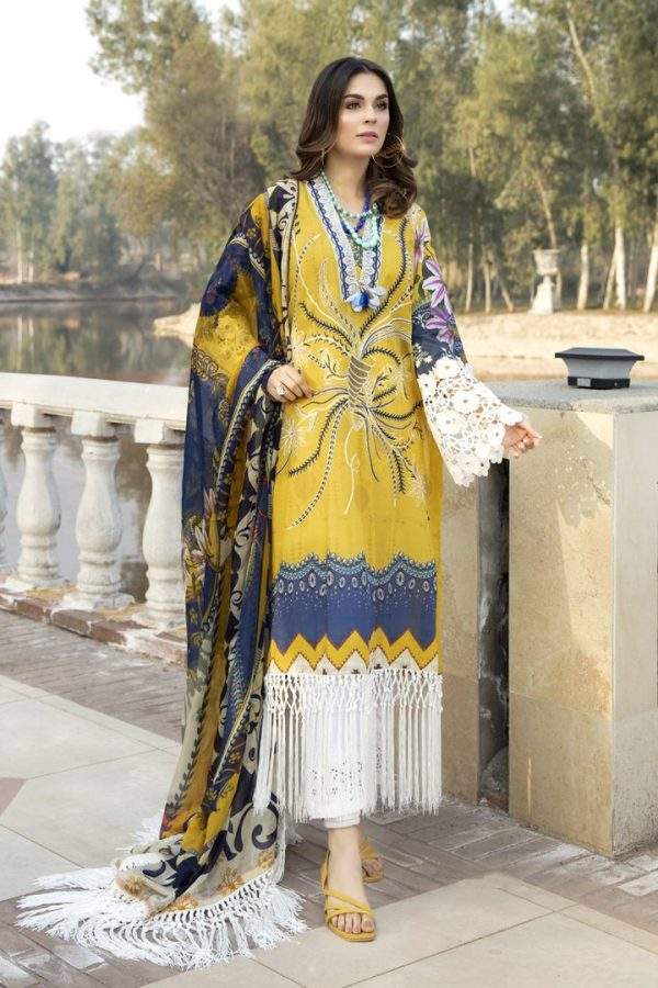 Marjjan Agosh Embroidered lawn Suit