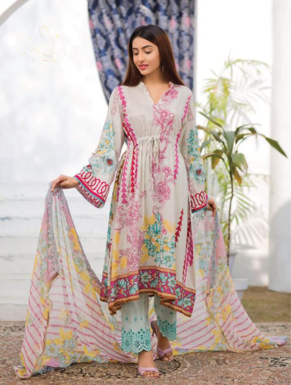 Embroidered lawn dress online shopping Pakistan