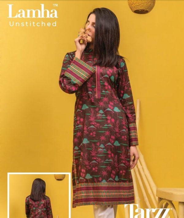 Tarzz Unstitched Digital Printed Lawn Suit 2pc