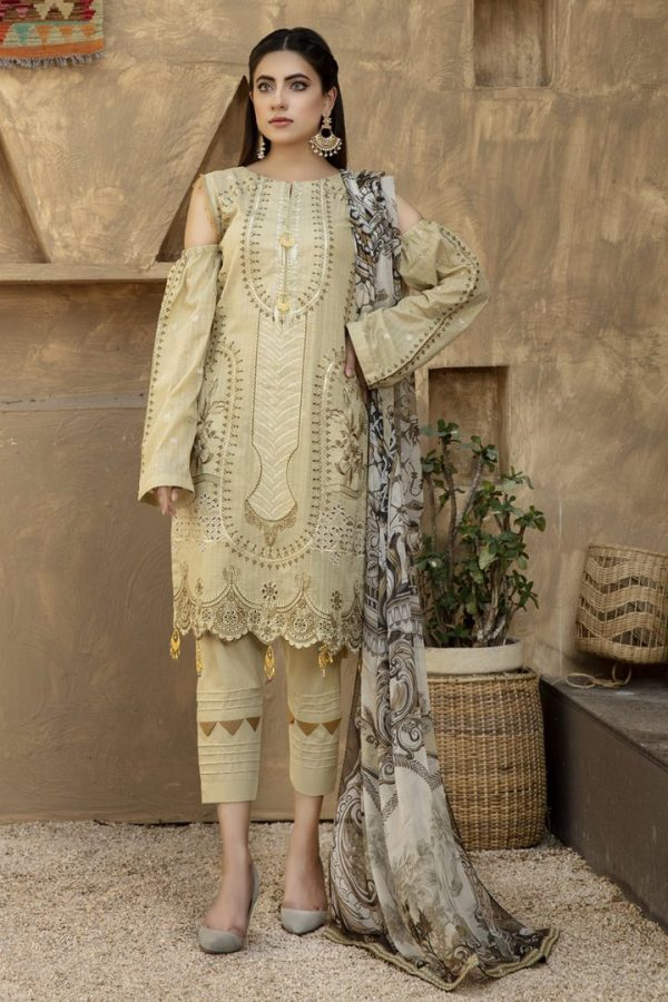 Marjjan Mohagni Embroidered lawn suit